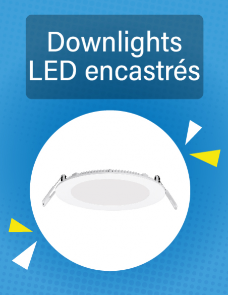 Downlights LED encastrés plafond
